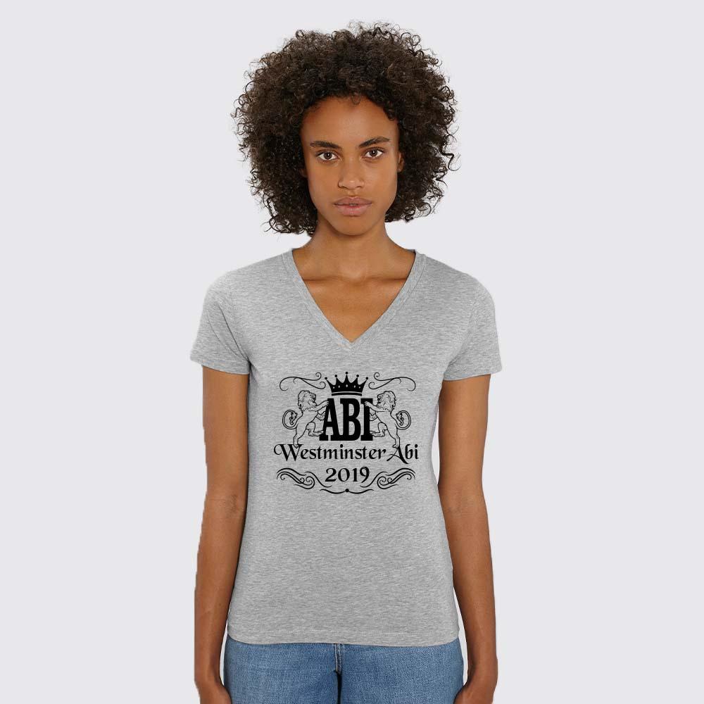 Abi-V-Neck Abishirt Annika Abikleidung Abishirts Abipullis Abihoodies fair bio und nachhaltig